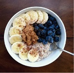 peanut butter banana blueberry oatmeal